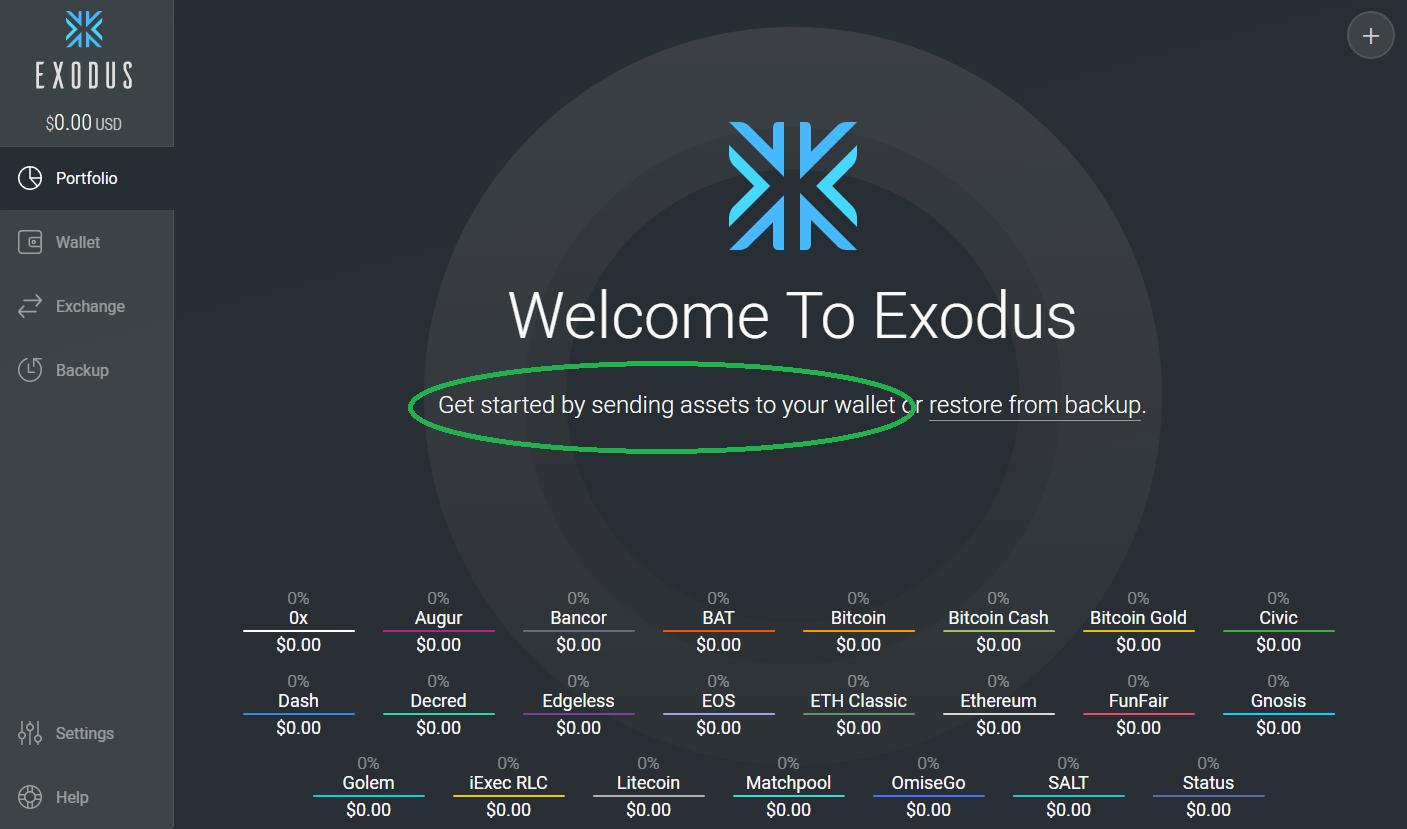 exodus kryptopenezenka uvodni obrazovka