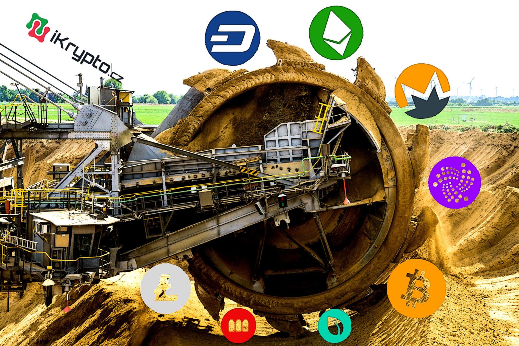 tezba kryptomen