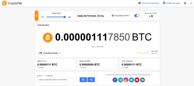 CryptoTab [RECENZE] – Jak získat bitcoin zdarma